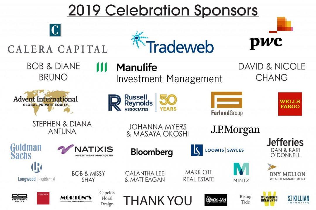 Sponsor Logos for 2019 Celebration