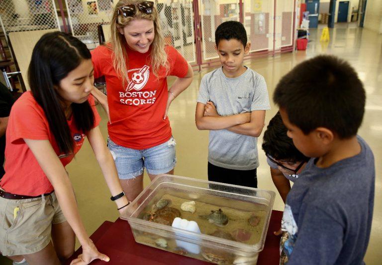 Aquarium visit at summer camp