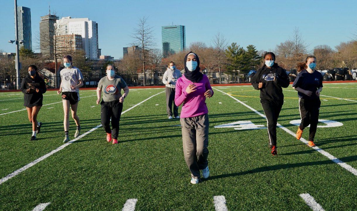HS Girls soccer practice FY21